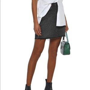 Rag & Bone Moss Skirt In Charcoal Size 28 NWT